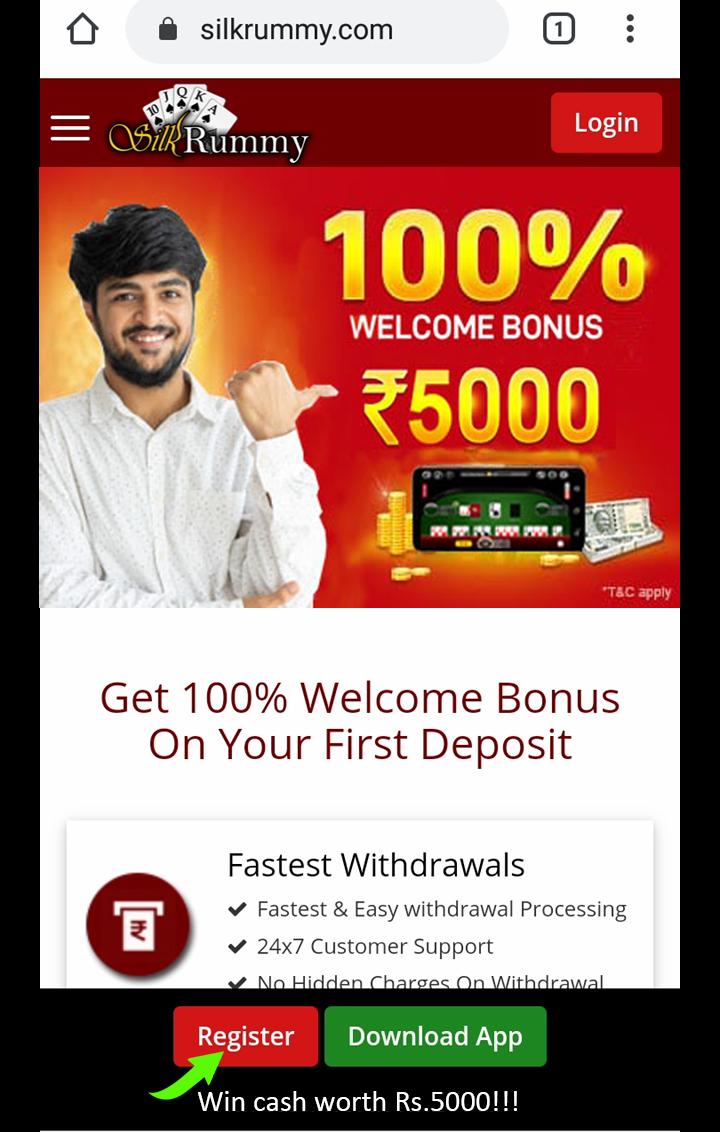 Rummy instant bonus sign up Rs.50