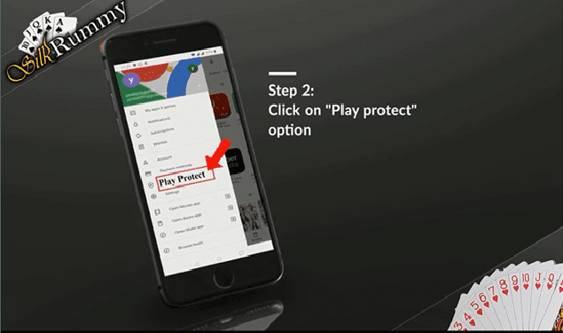 Rummy app download - Click on play protect
