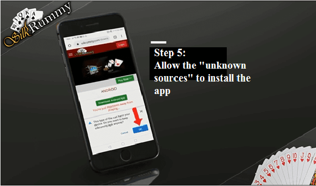 Rummy Android app settings - Allow the unknown sources